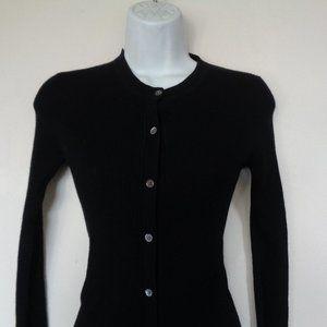 Banana Republic Wool Black Cardigan Sweater XS